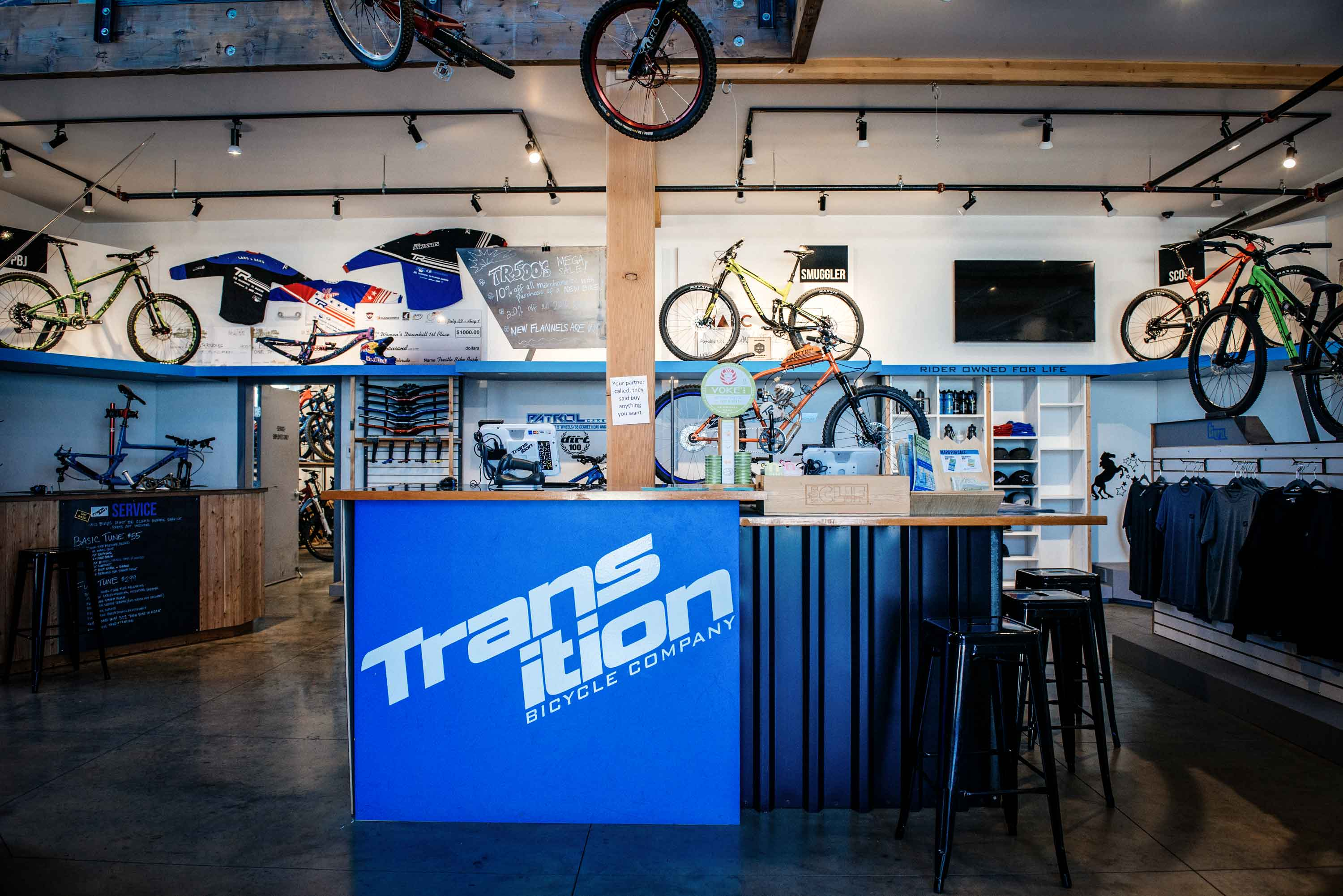 Knock, Knock: Transition Bikes Tour and First Ride
