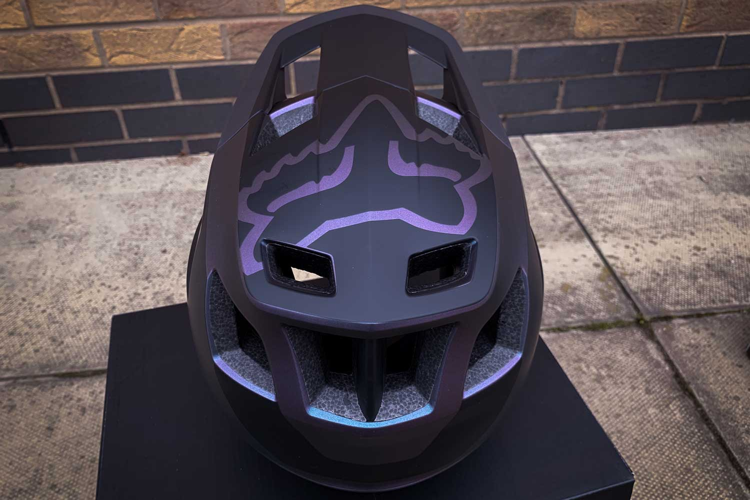 Fox Dropframe Helmet backview