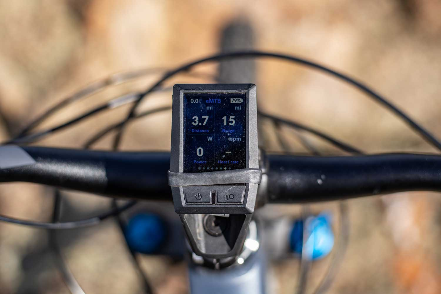 Mondraker Crafty R with the bosch kiox display on the handlebars