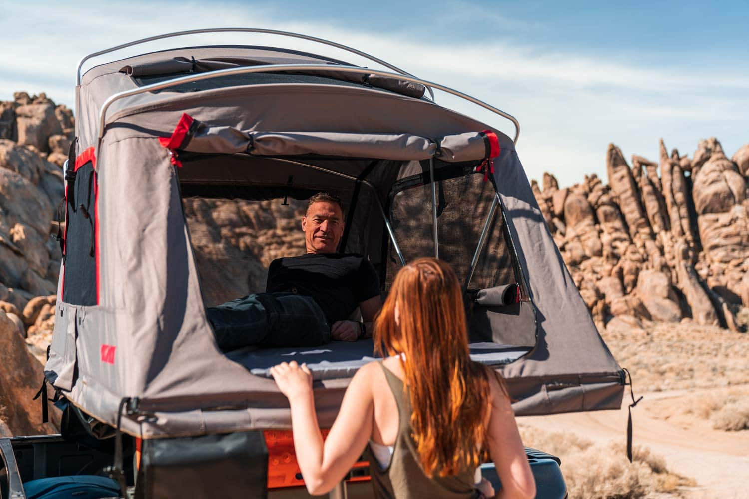 Open Yakima SkyRise HD Tent on the OutPost HD Rack
