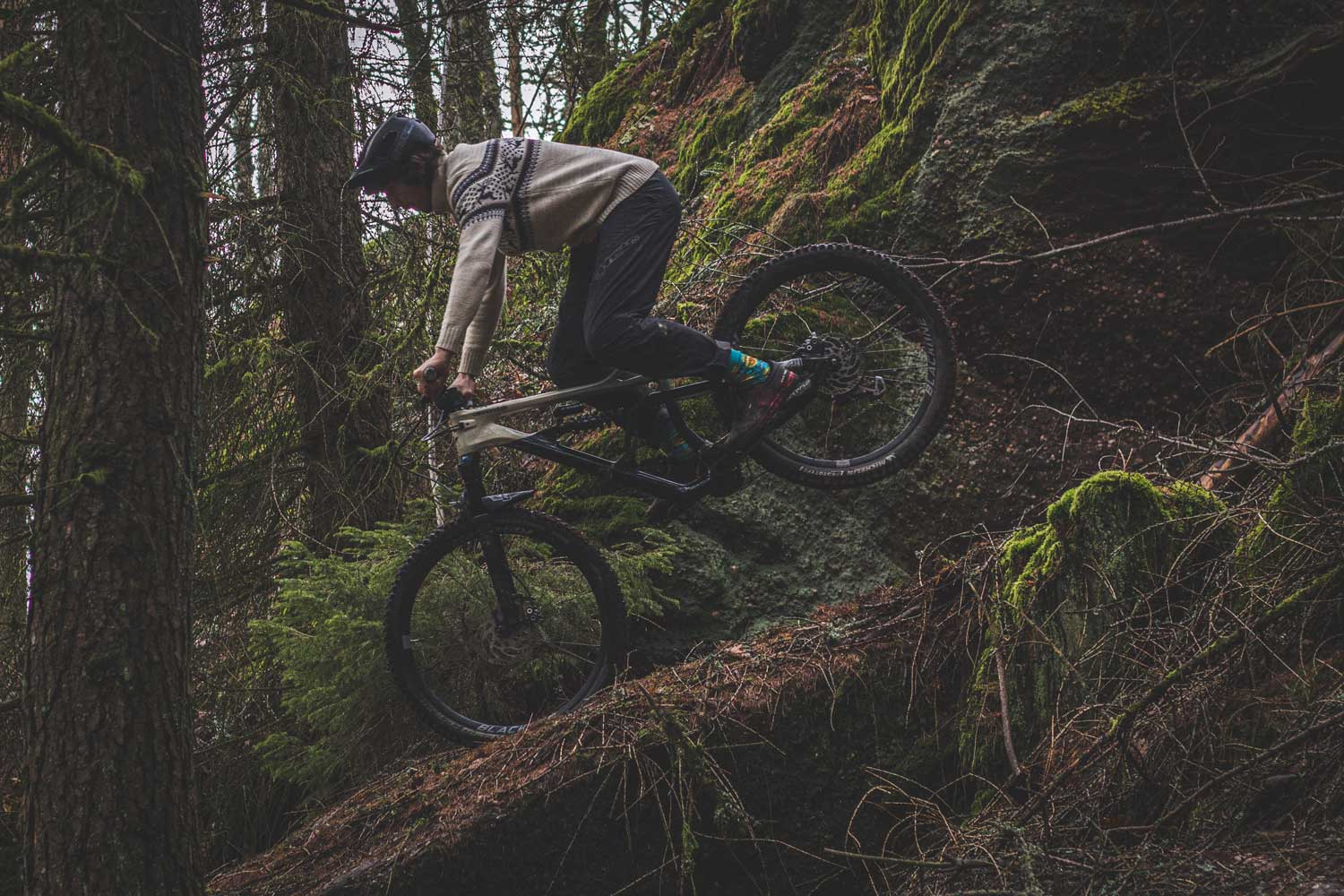 Flowgroh Shreds Les Vosges with Grandpa on E Bike