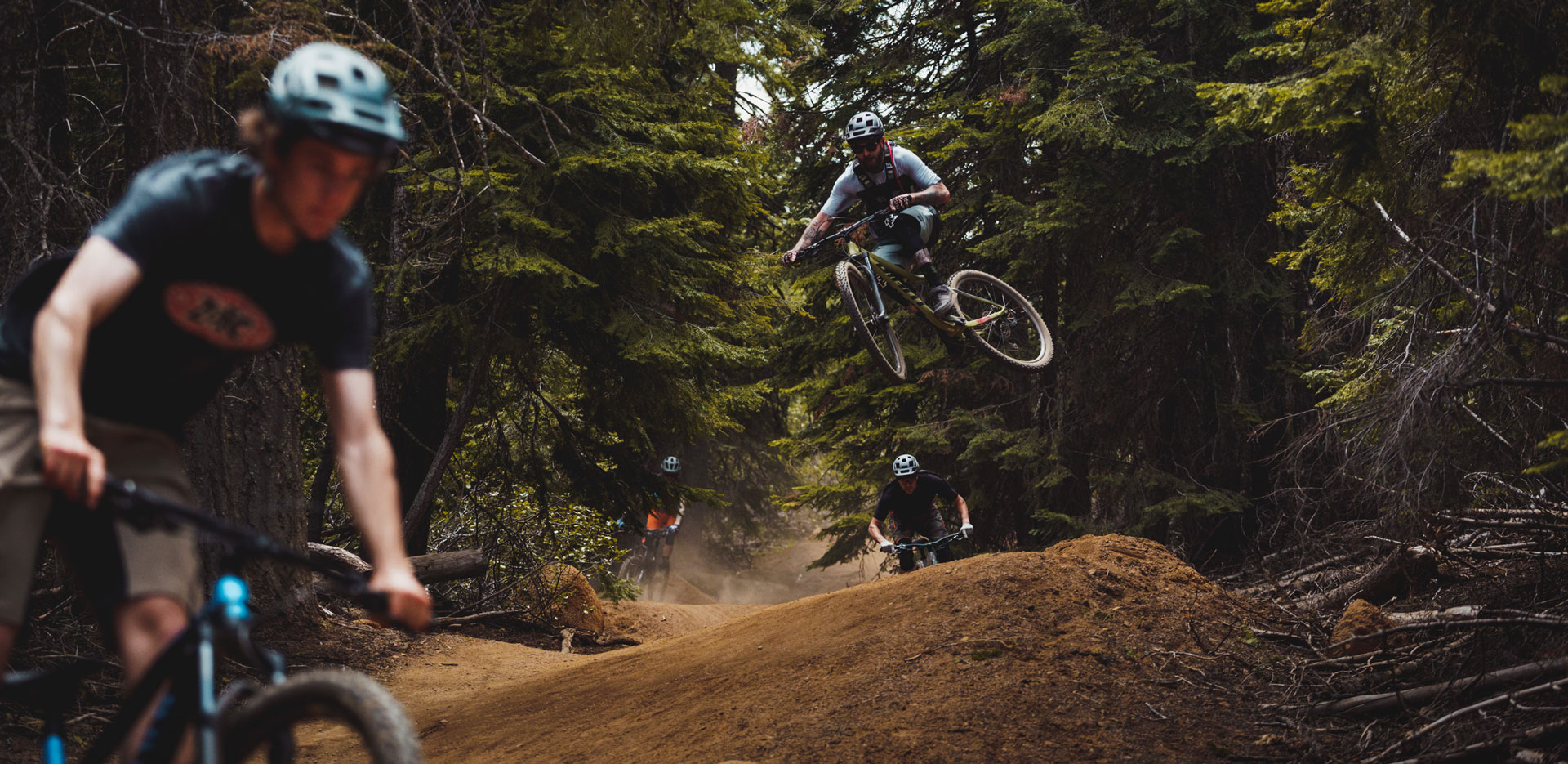 Bikers in air and on the trail - Budget Bike Shootout