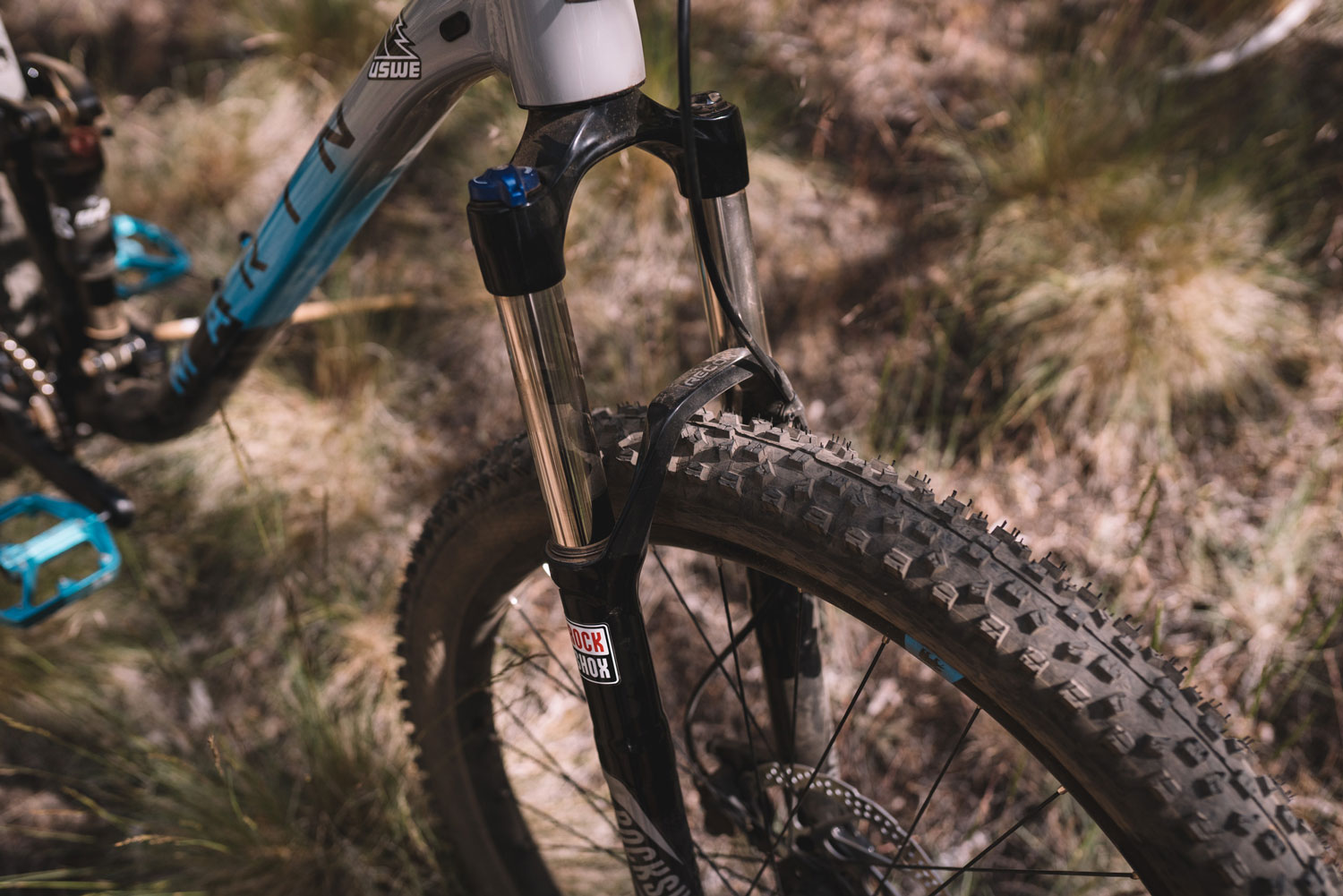 Marin Hawk Hill 1 front tire and suspension