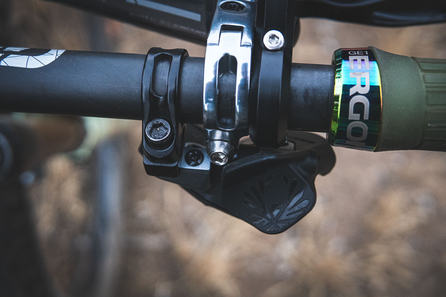 Close-up of the SRAM Eagle AXS X01 Drivetrain from above
