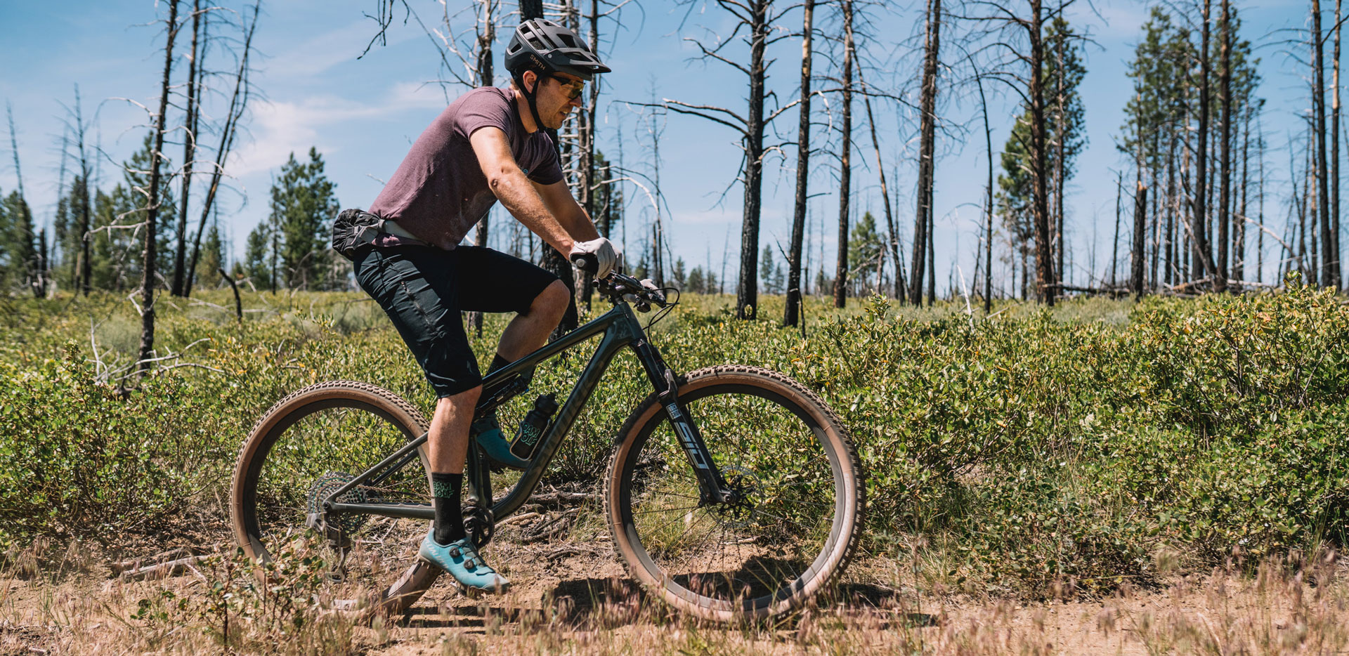 MTB rider on the Specialized Epic Evo S-Works