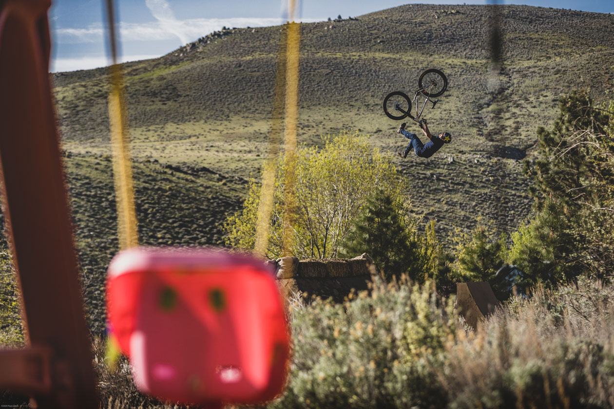 With a two-year old daughter, these days Greg's backyard is home to more than just dirt jumps. Photo: Ryan Cleek