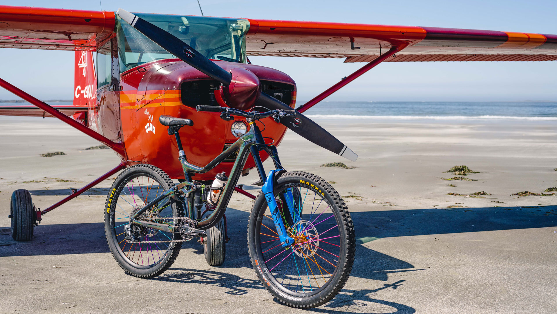 Reece Wallace's Cessna and Bike